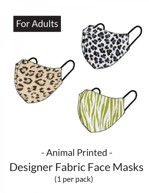 Face Mask - Comfort Face Cover Basic: Animal Prints (For Adults)