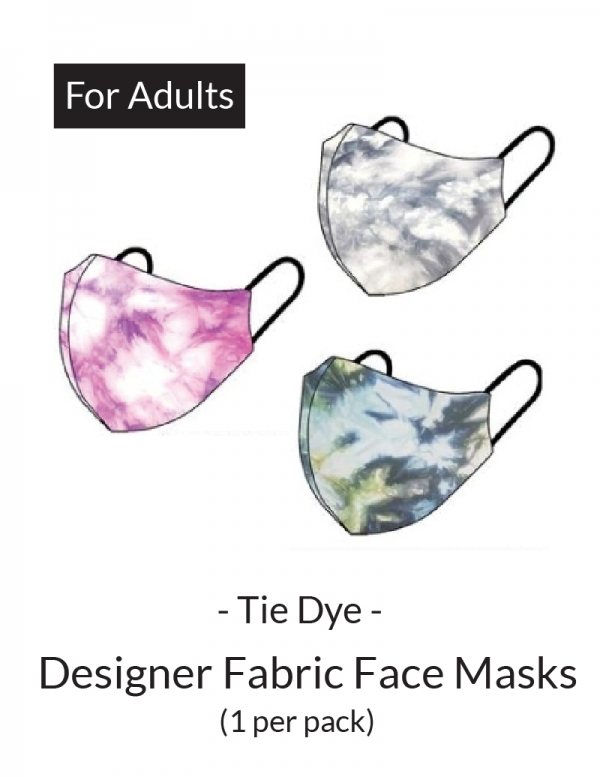 Face Mask - Comfort Face Cover Basic: Tie Dye (For Adults)